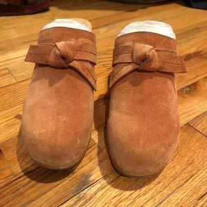 Loeffler Randall Austen suede clogs in blush 8
